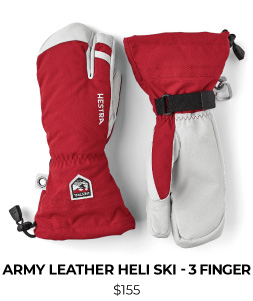 Hestra Army Leather Heli Ski 3 Finger Glove