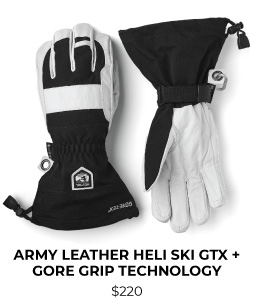 Hestra Army Leather Heli Ski GTX + GORE Grip Technology Glove